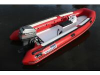 Valiant 490 4.9M 8 Man rigid inflatable RIB, Rescue, safety, club boat 60hp ELPT outboard