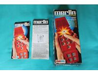 Merlin Electronics Games Machine by Palitoy (Plays 6 games)