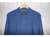 Lyle and Scott Checked Shirt (Blue, Large)