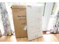 Green Sheep Organic / Bio Baby Cot Mattress 60 x 120 cm - Like New - Can Post!
