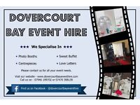 Photo Booths, Sweet Buffet, Candy Cart, Love Letters, Centrepieces - Dovercourt Bay Event Hire