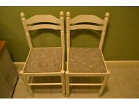 Free 2 X solid wooden chairs