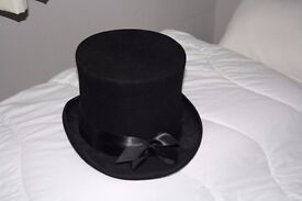 Top hat for the party season.Steampunk style. Look great with goggles.