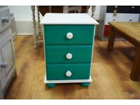White - Green Bedside Table