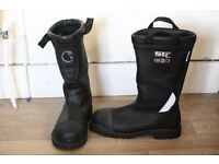 """LION Marshall STC Fire & Ice 14"""" Pull-On Leather Protective Heavy Duty Work Boots Size 10"""