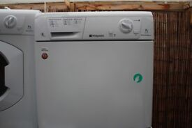 HOTPOINT 7KG CONDENSER TUMBLE DRYER IN GOOD CLEAN WORKING ORDER 3 MONTH WARRANTY & PAT TESTED