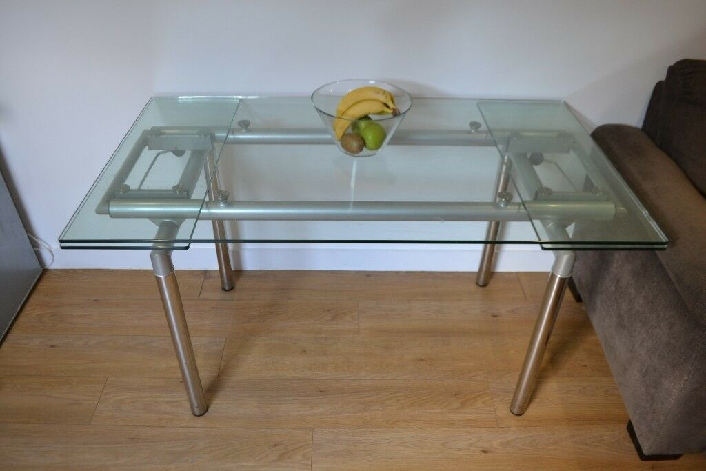 Dining Room Table 10mm Thick Glass Top Very Modern Table