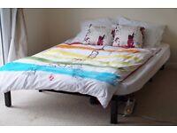 Dunlopillo Futon Sofa Double Bed Metal Frame Anti-Bacterial Mattress Made in France - Cambridge CB1