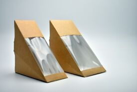 Kraft Sandwich Takeaway Wedge Boxes - 1 Pallet - Standard Fill and/or Deep Fill