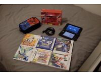 3DS XL Pokemon XY RED edition - 4 x pokemon games + mario-kart + starfox 64
