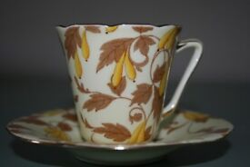 Art Deco style vintage coffee can/cup and saucer, 'Ashley' by Grafton, Staffordshire