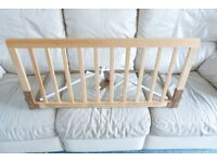 Baby Dan wooden bed guard in natural with removable rail - fits all beds and cots