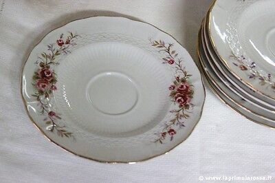 PIATTINO D'EPOCA IN PORCELLANA ROYAL CP - SEI PIATTINI - VINTAGE ITALIAN SAUCERS