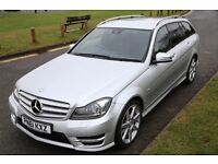 Mercedes-Benz C180 CDI Blue EFFICIENCY Sport estate with 7G-Tronic, Satnav and Command.