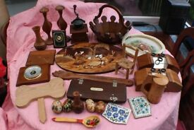Large Lot Wood and Treen Misc items Hardwood