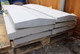 NEW DOUBLE WEATHERED COPING STONES