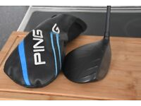 PING-G-9-DEGREE-ADJUSTABLE-DRIVER-REG-FLEX-ALTA-55g-SHAFT+headcover and wrench