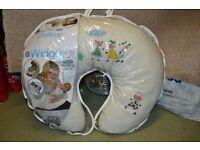 Widgey 5 in 1 Nursing Pillow Cow Print Good Condition