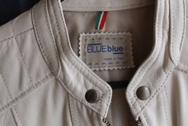 Italian soft leather jacket in cream - bought in Italy! Woman's size Small.