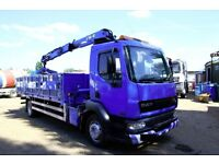 2003 DAF LF55.220 4X2 DROP SIDE WITH HIAB 102 BRICK GRAB CRANE FOR SALE TIPPER VOLVO MAN IVECO