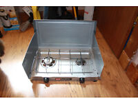 Coleman double burner gas camping stove