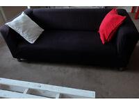 Ikea Klippan 2 Seater Sofa - Excellent Condition - Granån black cover