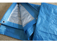 New Blue/Silver Heavy Duty Tarpaulin/Groundsheet 3M x 2M