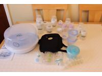 Avent microwave bottle steriliser and bottles etc