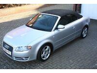 Audi a4 140 sport tdi convertible 2006 silver