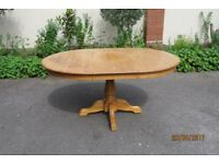Solid wood, extendable Farmhouse Table, seats 6.