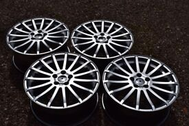 "18"" Ford Focus RS Style Alloy Wheels Brand New Hyper Silver Mondeo S C Max Transit Connect"