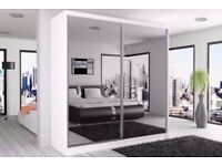 German wardrobe with sliding mirror doors ---in different colors and sizes