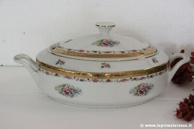 LEGUMIERA VINTAGE IN CERAMICA DECORATA - ZUPPIERA VINTAGE TUREEN MADE IN GERMANY