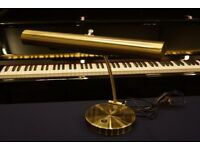 New large brushed brass look piano lamp - can post
