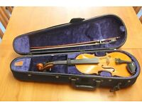 1/4 Violin quality tiger stripes pattern solid wood - RPP£275! Unleash your child's music talent