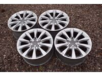 "Genuine 17"" Audi A6 C7 Alloy Wheels 2011 Onwards S Line 4G0601025AG A4 Ideal Winter Setup"