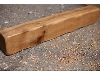 Solid Oak Floating Mantel, Oak Fireplace Beam, Oak Mantelpiece, Handmade Oak Mantels Free Delivery