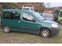 Green 2003 Peugeot Partner 1.9L diesel, 140 000 miles Good All Rounder