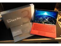 Microsoft Surface Pro 3 i5 256GB SSD 8GB ram + type cover + pen