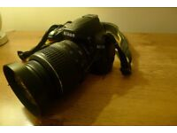 Nikon D3000 body and lens