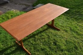 Retro Vintage Mid Century Coffee Table Danish style 1960s