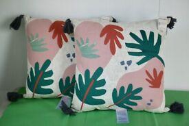 2 Outdoor Cushions - Flower design BNWT from Sainsburys
