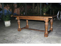 Oak-Jacobean-Style-Large-Refectory-Kitchen / Dining table