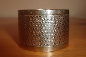 Vintage napkin ring. Believed to be silver-plated, but unmarked.