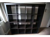 4x4 IKEA Kallax black-brown