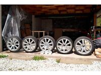 "Genuine AUDI S8/A8 alloy wheels (5 of) - 20"" 9 spoke polished silver"