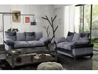 Dino jumbo cord sofas / 3+2 seater set or corner sofa in grey/black or beige/brown