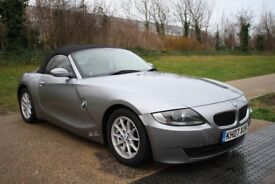 2007 BMW Z4 2.0L PETROL MANUAL LOW MILES CONVERTIBLE GREY WITH RED LEATHER WARRANTY PART EXCHANGE WE