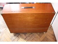 vintage wooden tool box/cabinet