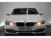 BMW 3 SERIES 2.0 320D SPORT [NAV/LEATHER] 4d 184 BHP (white) 2013